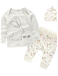 Girls' Print Sets,Cotton Fall Long Sleeve Clothing Set