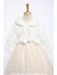 cheap -Faux Fur Wedding Party / Evening Kids' Wraps With Bandage Shrugs