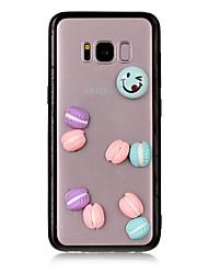 Недорогие -Кейс для Назначение SSamsung Galaxy S8 Plus S8 Прозрачный Кейс на заднюю панель Продукты питания 3D в мультяшном стиле Твердый Акрил для