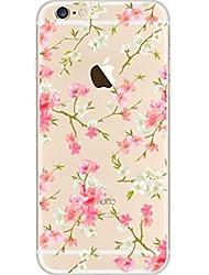 Per iPhone 7 iPhone 7 Plus Custodie cover Ultra sottile Transparente Fantasia/disegno Custodia posteriore Custodia Fiore decorativo
