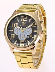 economico -Per uomo Orologio elegante Orologio alla moda Orologio da polso Cinese Quarzo imitazione diamante Lega Banda Casual Elegant Oro