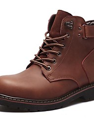 cheap -Men's Bootie Nappa Leather Fall / Winter Boots Booties / Ankle Boots Black / Brown