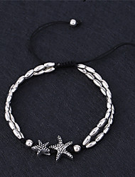 cheap -Beads Anklet - Animal, Starfish Vintage, Simple Style, Yoga White / Black For Gift / Casual / Going out / Women's
