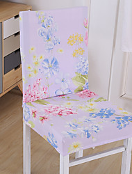cheap -Contemporary Polyester Chair Cover, Easy to Install Floral Printed Slipcovers