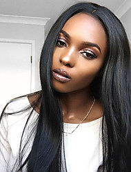 cheap -Pre Plucked 360 Lace Frontal Wig Indian Virgin Human Hair Wigs with Baby Hair for Black Women 180% Density 360 Lace Wig 10''-24'' Natural Color Hair