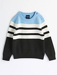 cheap -Boys' Stripe Blouse,Cotton Fall Long Sleeve Stripes Light Blue