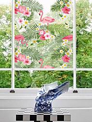 Недорогие -Цветы Стикер на окна,ПВХ материал окно Украшение