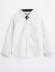 Boys' Print Shirt,Cotton Fall Long Sleeve
