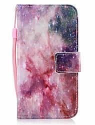 Недорогие -Кейс для Назначение SSamsung Galaxy J7 (2017) J3 (2017) Бумажник для карт Кошелек Флип Магнитный С узором Чехол Цвет неба Твердый Кожа PU