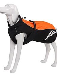 abordables -Chien Manteaux Imperméable Bande Réfléchissante Vêtements pour Chien Couleur Pleine Orange Jaune Noir Matériau imperméable Nylon Costume