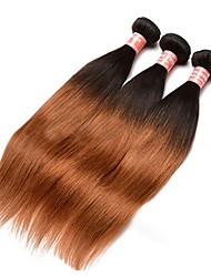 Ombre Hair Weaves Peruvian Texture Straight 12 Months Three-piece Suit hair weaves