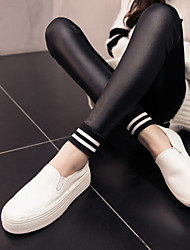 Women's Thick Stitching Fleece Lined Legging,Striped