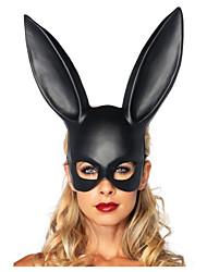 Mascarade de 1pc femmes lapin noir masque halloween décorations