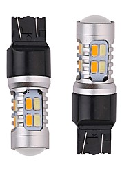 cheap -6PCS Aluminium Material 24W 1200LM Dual Colors LED Turn Signal Light 1156 1157 3156 3157 7440 7443