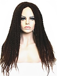 cheap -Synthetic Wig Afro / Kinky Curly Synthetic Hair Dreads Locs / African American Wig / African Braids Black / Brown Wig Women's Long Capless