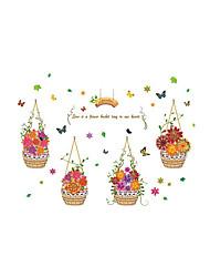 voordelige -Bloemenmotief/Botanisch Woorden en Citaten Mode Muurstickers Vliegtuig Muurstickers Decoratieve Muurstickers Materiaal Huisdecoratie