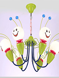 Children Bedroom Chandeliers Male Girl Room Lighting LED Face Cartoon Decoration Stores Bee Creative Lamps And Lanterns