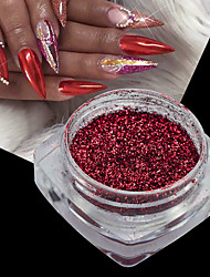 cheap -1 Acrylic Powder Nail Glitter Glitter Powder Mirror Effect Sparkle & Shine Nail Art Design