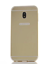 cheap -Case For Samsung Galaxy J5 (2017) J3 (2017) Shockproof Mirror Back Cover Solid Color Hard PC for J7 (2017) J5 (2017) J3 (2017)