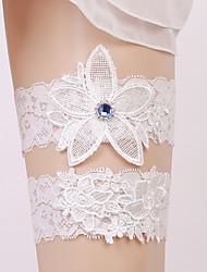 liga de la boda del cordón con los accesorios cristalinos de la boda estilo elegante clásico