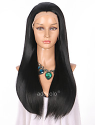 cheap -Women Synthetic Wig Lace Front Long Straight Black Natural Hairline Natural Wigs Costume Wig