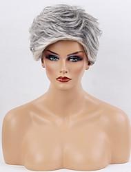 cheap -Human Hair Capless Wigs Human Hair Curly Dark Roots Ombre Hair Short Machine Made Wig Women's