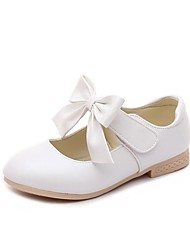 cheap -Girls' Flats Comfort Flower Girl Shoes Spring Fall Leatherette Wedding Casual Party & Evening Dress Bowknot Magic Tape Low Heel Blushing