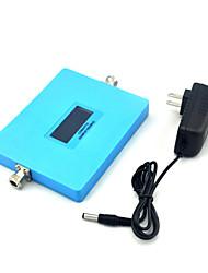 display inteligente cdma 850mhz pcs 1900mhz repetidor de sinal de telefone celular 800mhz repetidor com fonte de alimentação / azul / mini