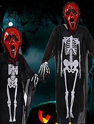 2017 New Skull Skeleton Ghost Cosplay Costume Men Women Adults Children Halloween Carnival Masquerade Fancy Dress Party Performance Wear