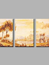 Hand-Painted Abstract Landscape Horizontal Panoramic,Artistic Nature Inspired Classic Birthday Modern/Contemporary Office/Business Cool