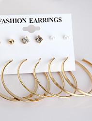 Women's Stud Earrings Hoop Earrings Imitation Pearl Fashion Alloy Circle Jewelry For Daily