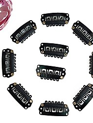 20pcs Black Color Wire Wig Combs Plastic Clips For hair full Lace Wigs Cap Accessories
