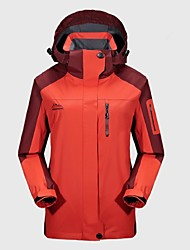 cheap -Women's Hiking Jacket Outdoor Winter Windproof Rain-Proof Wearable Breathability Winter Jacket Top Full Length Visible Zipper Camping /