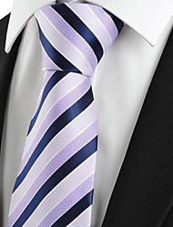 cheap -Men's Polyester Neck Tie,Striped Striped All Seasons Light Blue