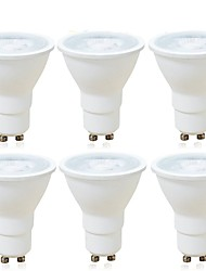 cheap -6pcs 6W 600lm GU10 LED Spotlight MR16 1 LED Beads COB Dimmable Decorative Warm White Cold White 220-240V