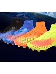abordables -Hombre Zapatos PU Primavera Otoño Confort Zapatillas de Atletismo Fútbol Con Cordón Para Deportivo Casual Naranja Azul Oscuro Amarillo