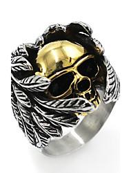 Men's Band Rings Hip-Hop Chrismas Stainless Steel Skull / Skeleton Jewelry For Halloween Festival