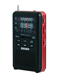DE36 Radio portatile Lettore MP3 Scheda TFWorld ReceiverNero
