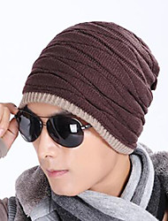 Adult Wool Blend Beanie/Slouchy,European Solid Autumn/Fall Winter Pure Color