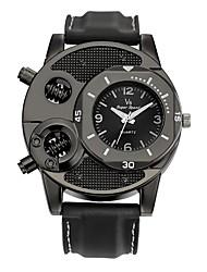 Homens Relógio Esportivo Relógio de Pulso Relógio Casual Chinês Quartzo / Silicone Borracha Banda Vintage Casual Preta