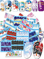 cheap -48 Nail Art Sticker  Pattern Accessories Water Transfer Sticker Water Transfer Decals Cartoon 3-D Christmas New Year Sticker DIY Supplies