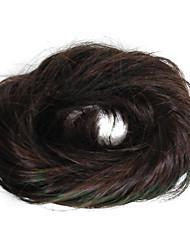 abordables -mujeres moda chigon bollo marrón boda fibra sintética hairpiece buena calidad cosplay sintética extensión de pelo para las mujeres