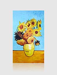 economico -Dipinta a mano Floreale/Botanical Gel pittura Moderno Un Pannello Tela Hang-Dipinto ad olio For Decorazioni per la casa