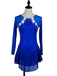 Femme Robe de Patinage Artistique Robe de Patinage Manches Longues Robes Séchage rapide Design Anatomique Ski Patinage sur glace Sports