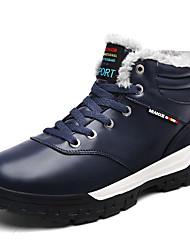 baratos -Homens sapatos Malha Respirável / Courino Primavera / Outono Conforto Tênis Preto / Marron / Azul