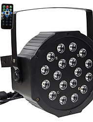 30W RGB 18 LEDs Par Stage Effect Lighting DMX512 Sound Activated for Disco DJ KTV Bar Wedding