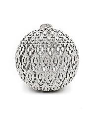 Damen Taschen Ganzjährig Metall Abendtasche Kristall Verzierung für Hochzeit Veranstaltung / Fest Silber