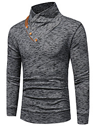 cheap -Men's Plus Size Casual/Daily Simple Sweatshirt Solid V Neck Belt Not Included Micro-elastic Cotton Long Sleeve Spring/Fall