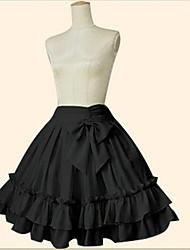 Jupe Doux Lolita Classique/Traditionnelle Petite Robe Noire Elégant Cosplay Vêtrements Lolita Rose Noir Bleu Couleur unie Cheville Jupe