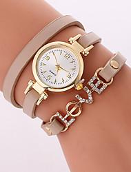 Women's Fashion Watch Bracelet Watch Quartz PU Band Cool Casual Black White Brown Beige